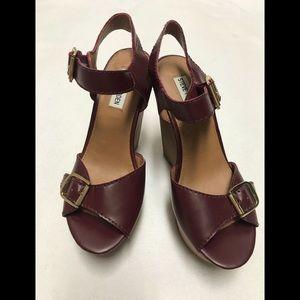 Steve Madden breeann red platform sandal heels 7.5